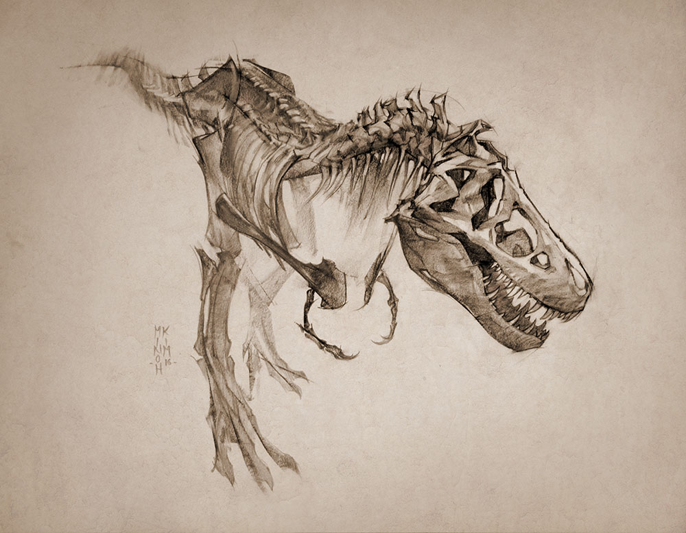 2016 Thomas the T-Rex by MinohKim