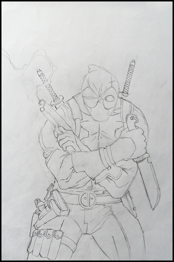 D Line Drawings Not Working : Deadpool line art work in progress by inqubus verseum on
