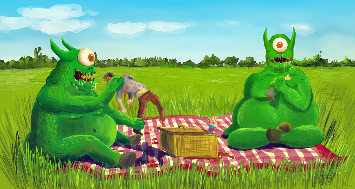 Picnic with friend. by Inqubus-verseum