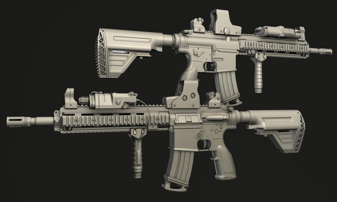 HK417 SOPMOD by 0800