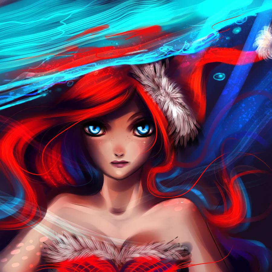 Christmas Ariel by ryky