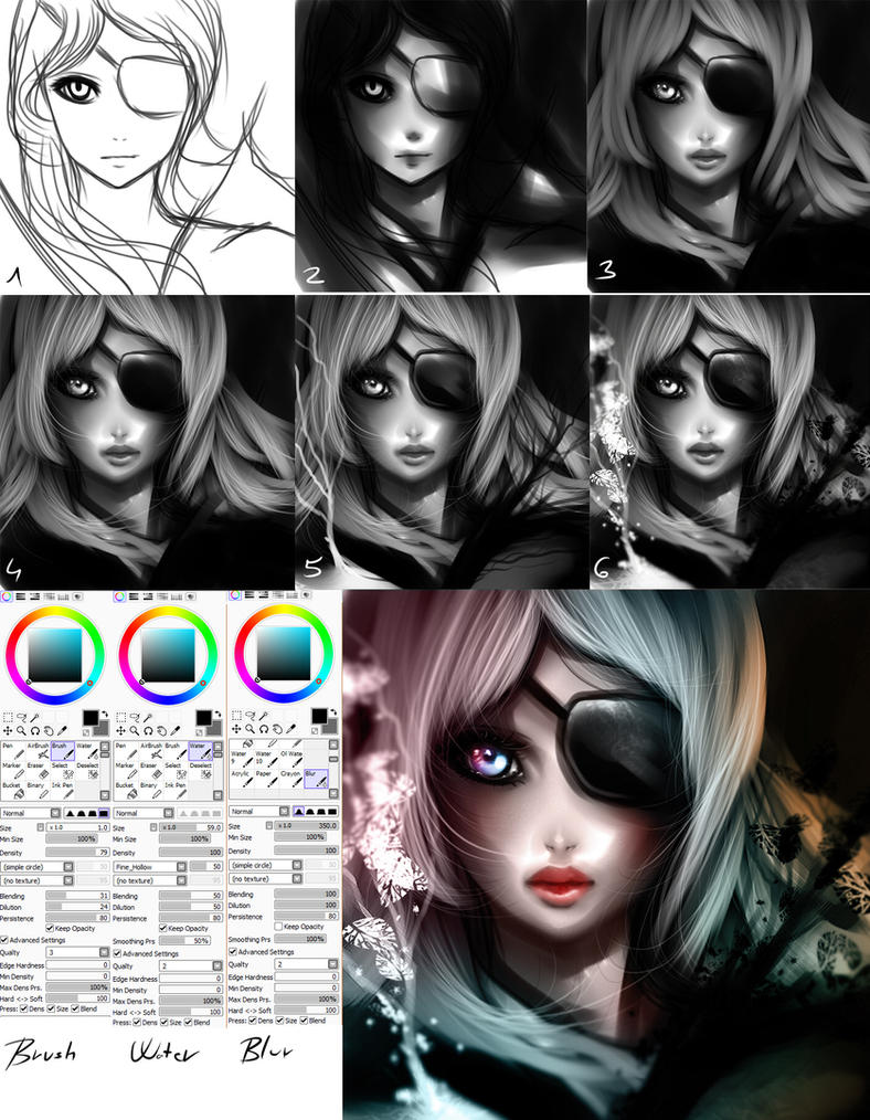 Paint tool SAI tutorial by ryky