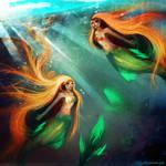 Twins mermaids