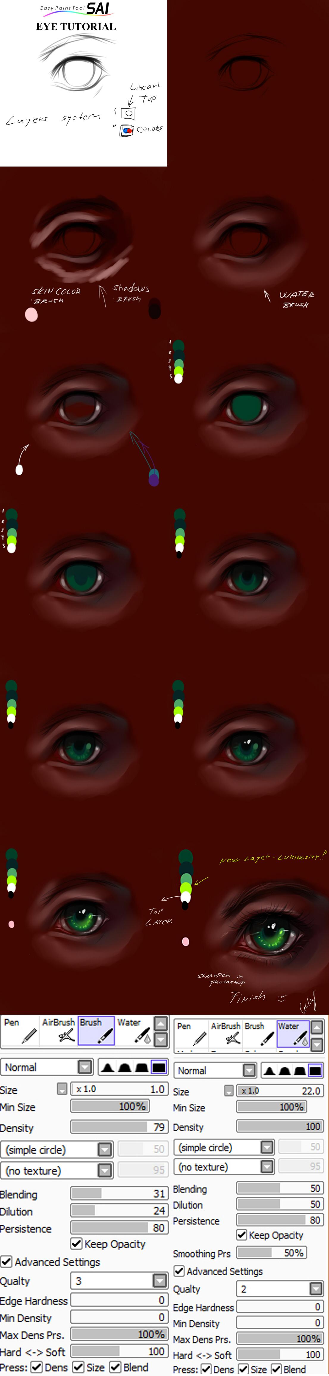 Paint tool SAI eyes tutorial