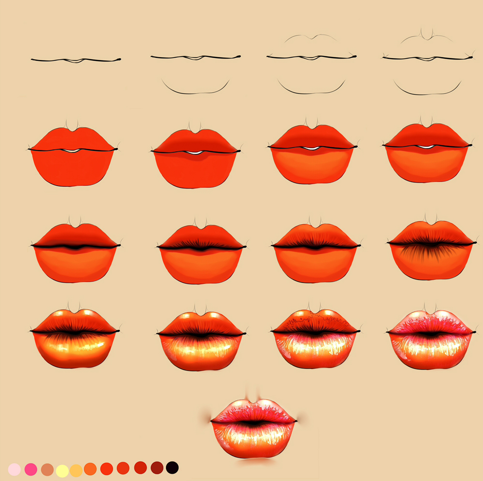 Lips process by ryky