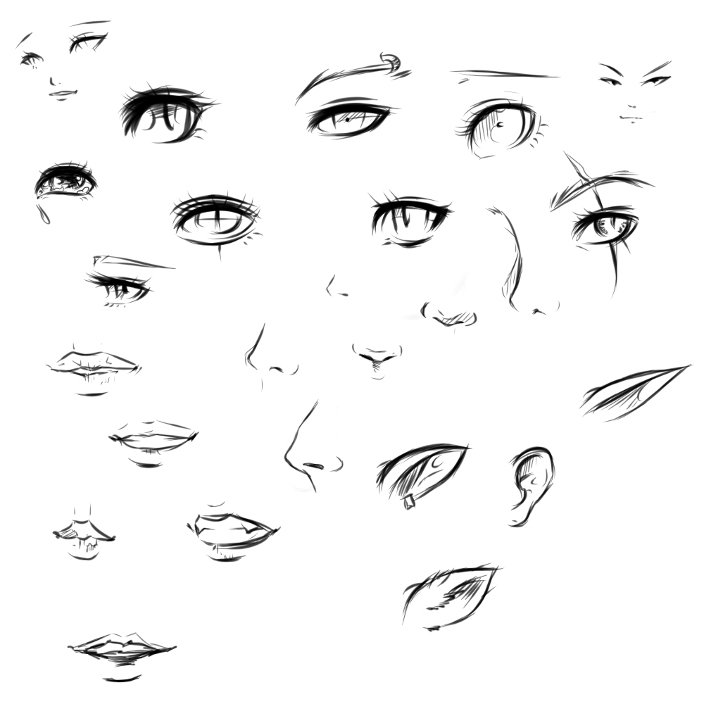 anime eyes reference male: Tutorial By Ryky On DeviantArt