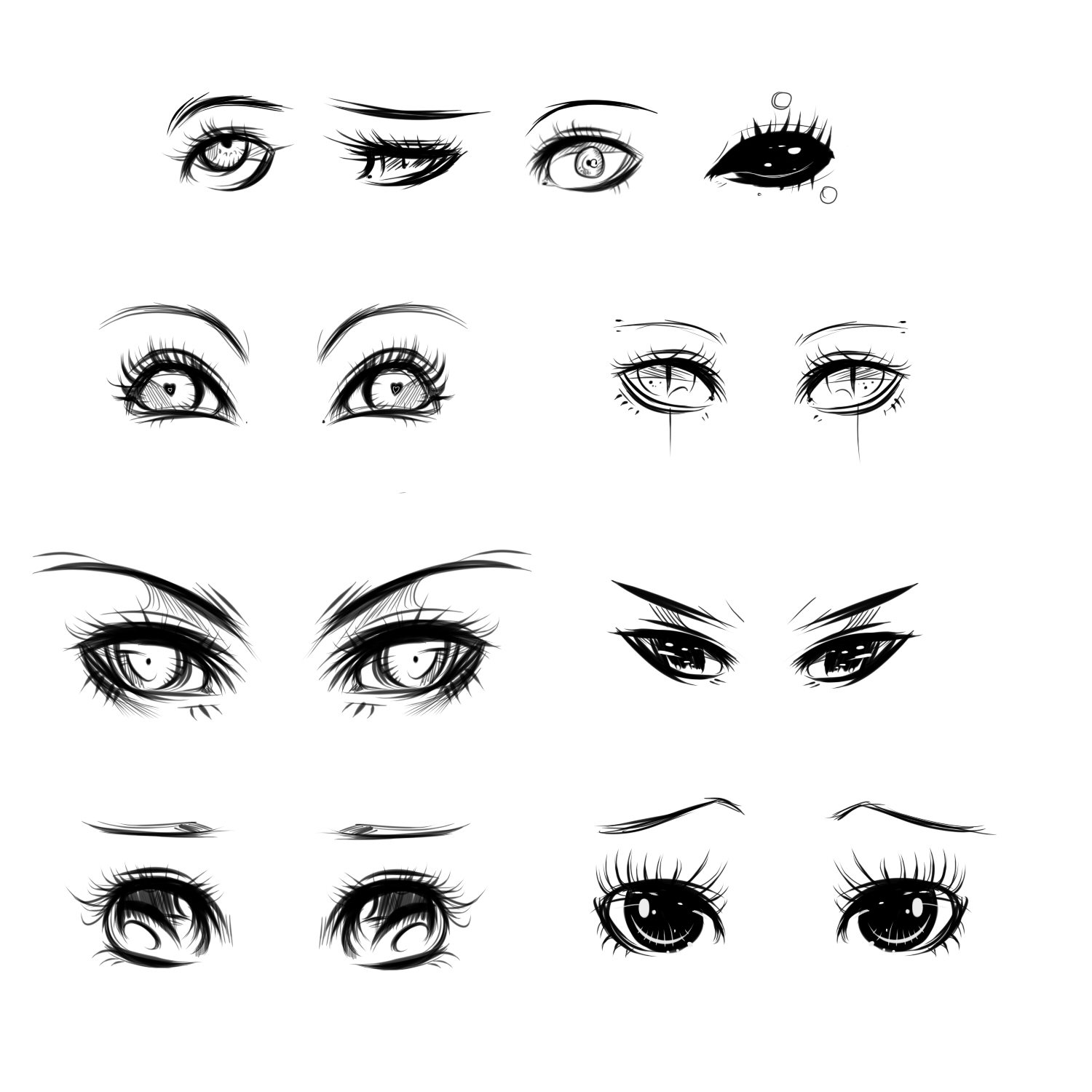 It's just a graphic of Critical Cute Anime Eyes Drawing