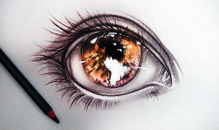 I see world in the fire