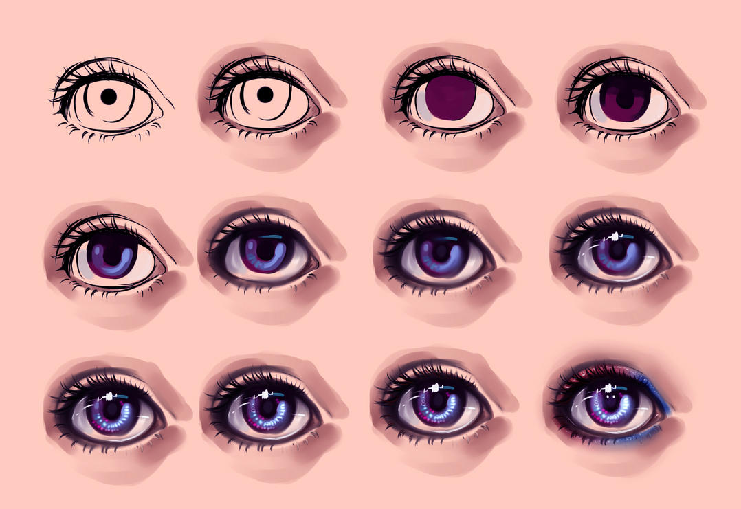 Как в фотошопе сделать глаза как в аниме