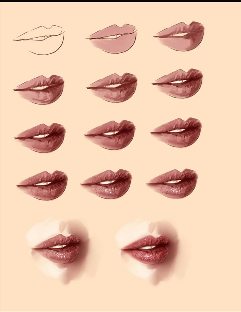 realistic lips tutorial by ryky