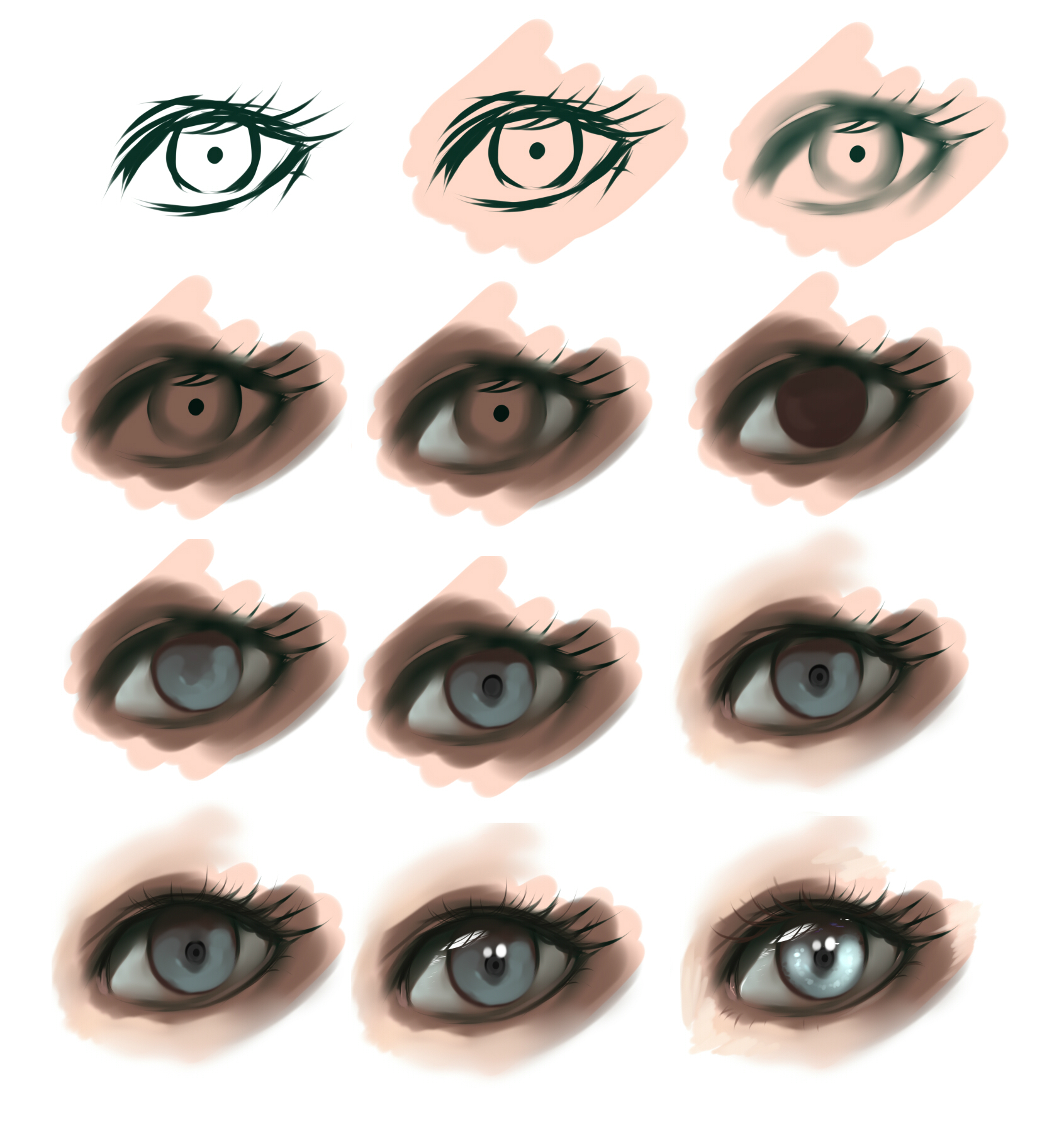 Paint tool sai eyes tutorial by ryky on deviantart eye step by step by ryky ccuart Images