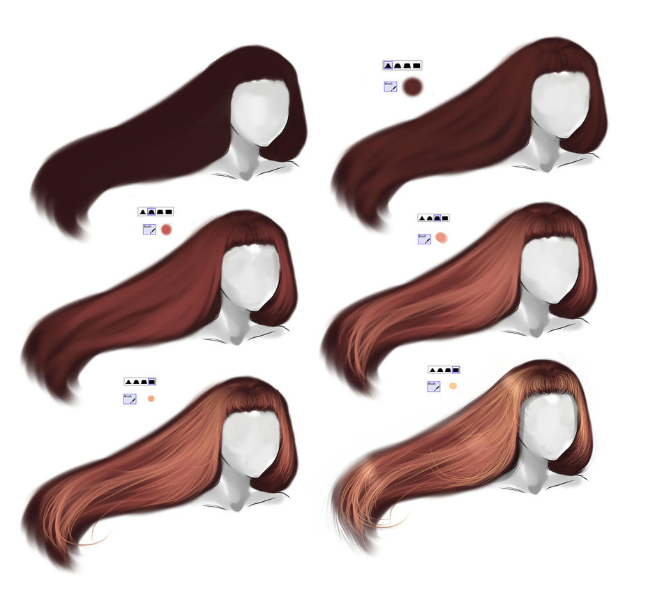 Hair Tutorial By Ryky On Deviantart