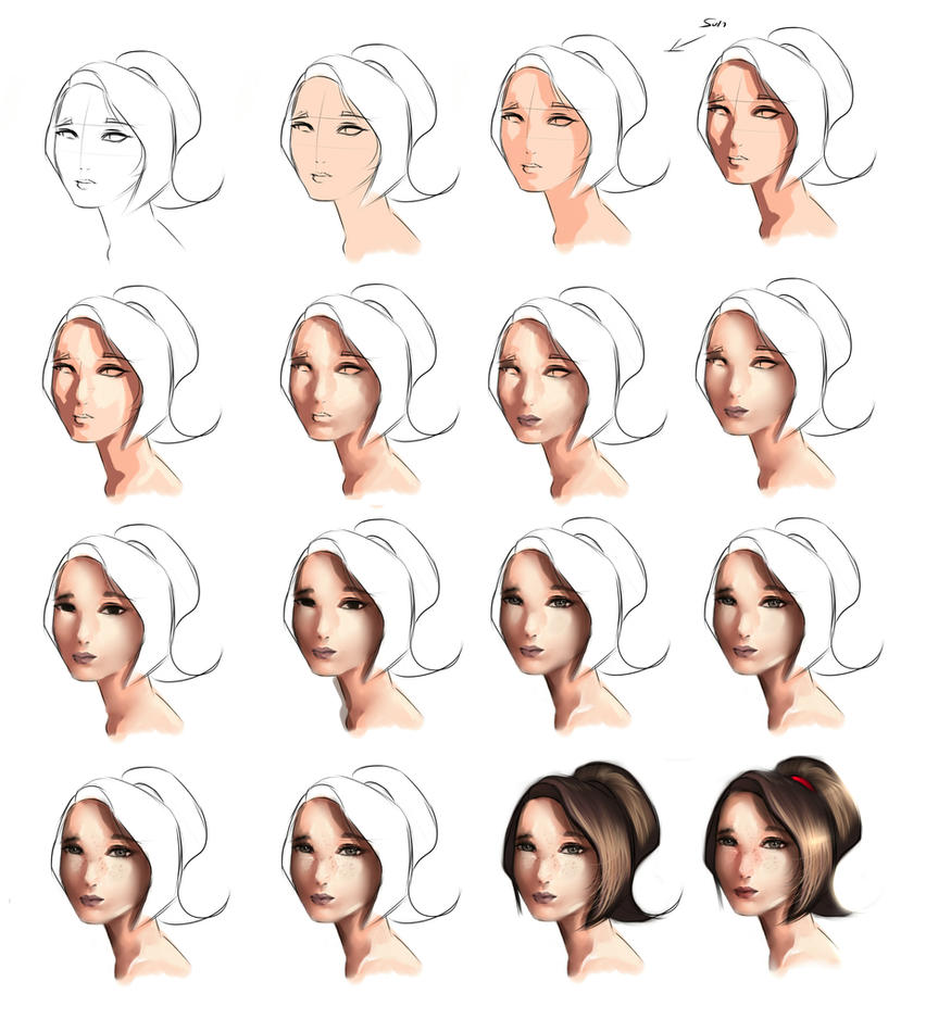 How To Paint A Face Using  Tones