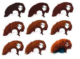 Hair tutorial - Merida