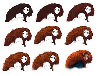 Hair tutorial - Merida by ryky