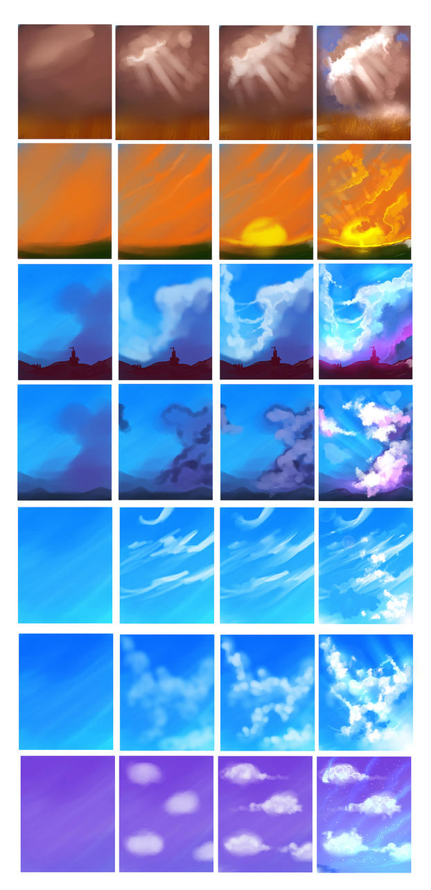 Ryky S Scenery Tutorial: Clouds Tutorial By Ryky On DeviantArt