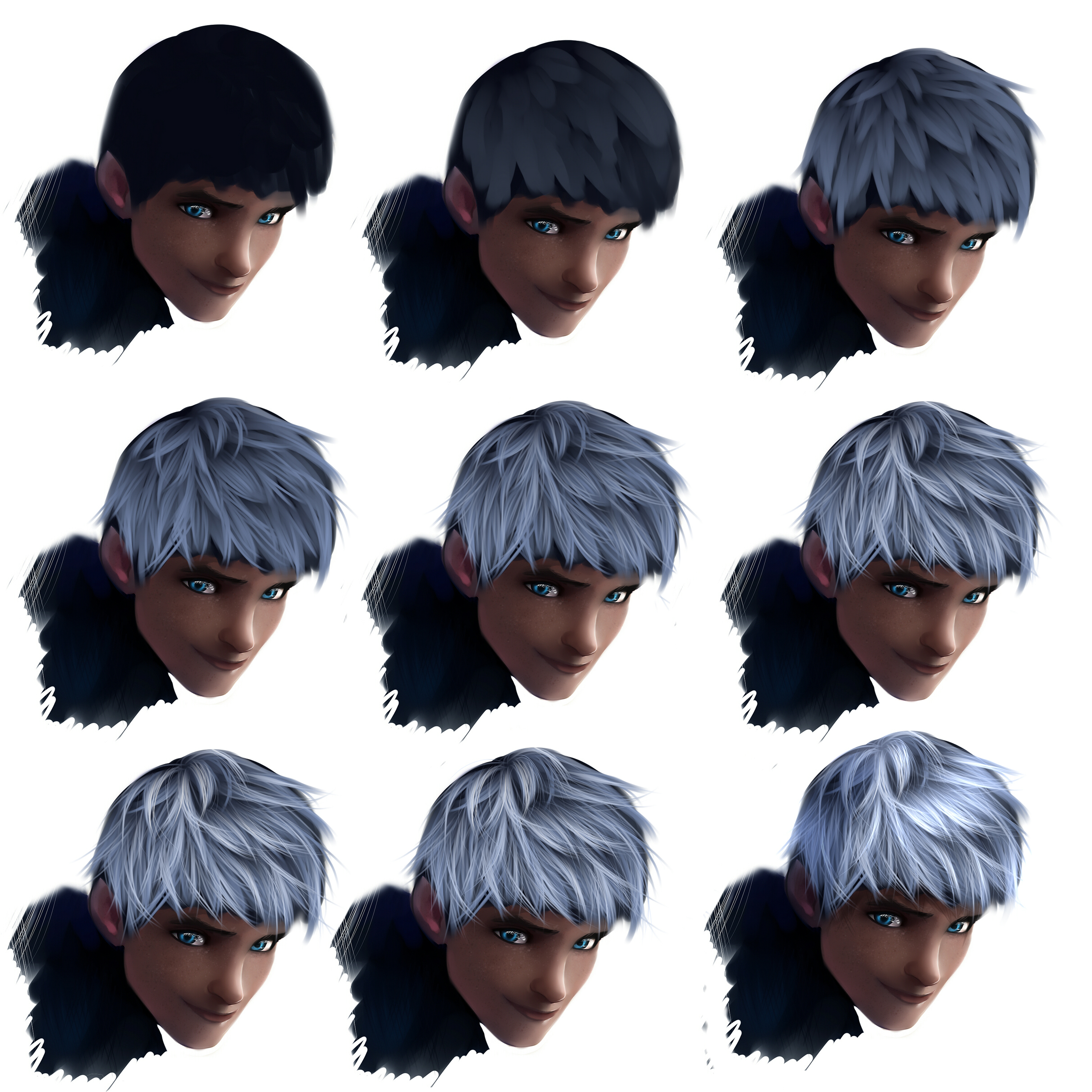 Hair tutorial - Jack Frost