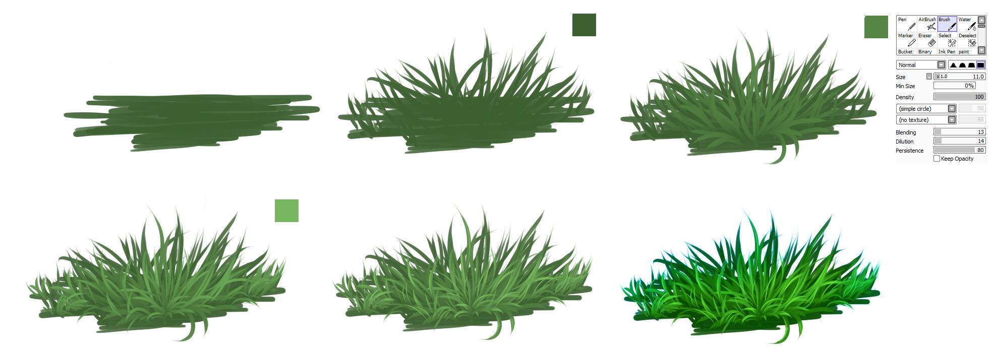 GRASS - easy tutorial by ryky on DeviantArt