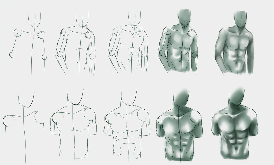 Male body study by ryky