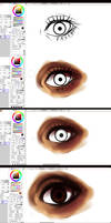 Paint tool SAI- EYE -tutorial