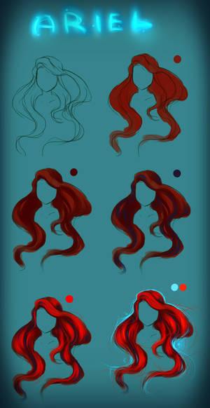 Ariel Hair - tutorial