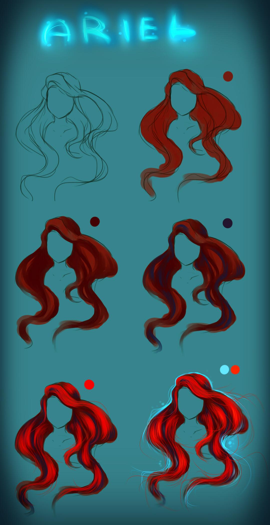 Ariel Hair - tutorial by ryky