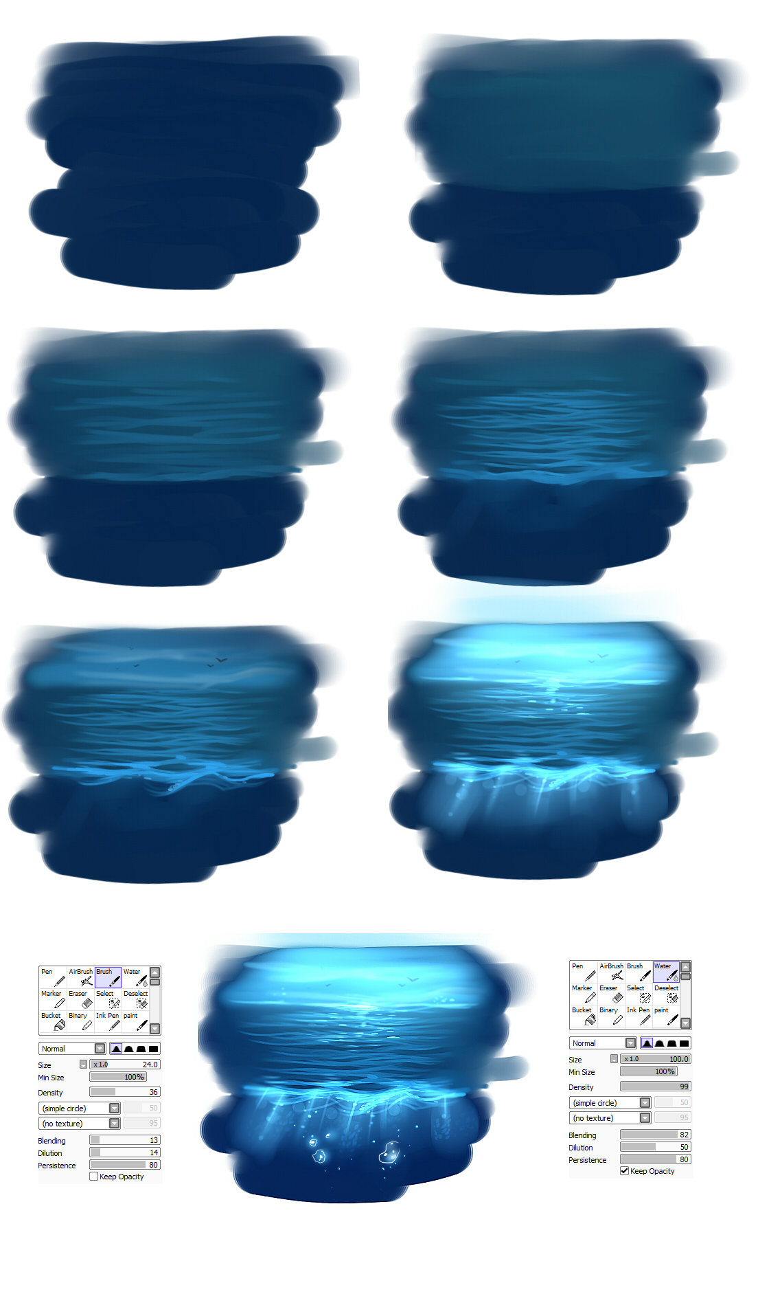 Easy Water tutorial by ryky on DeviantArt