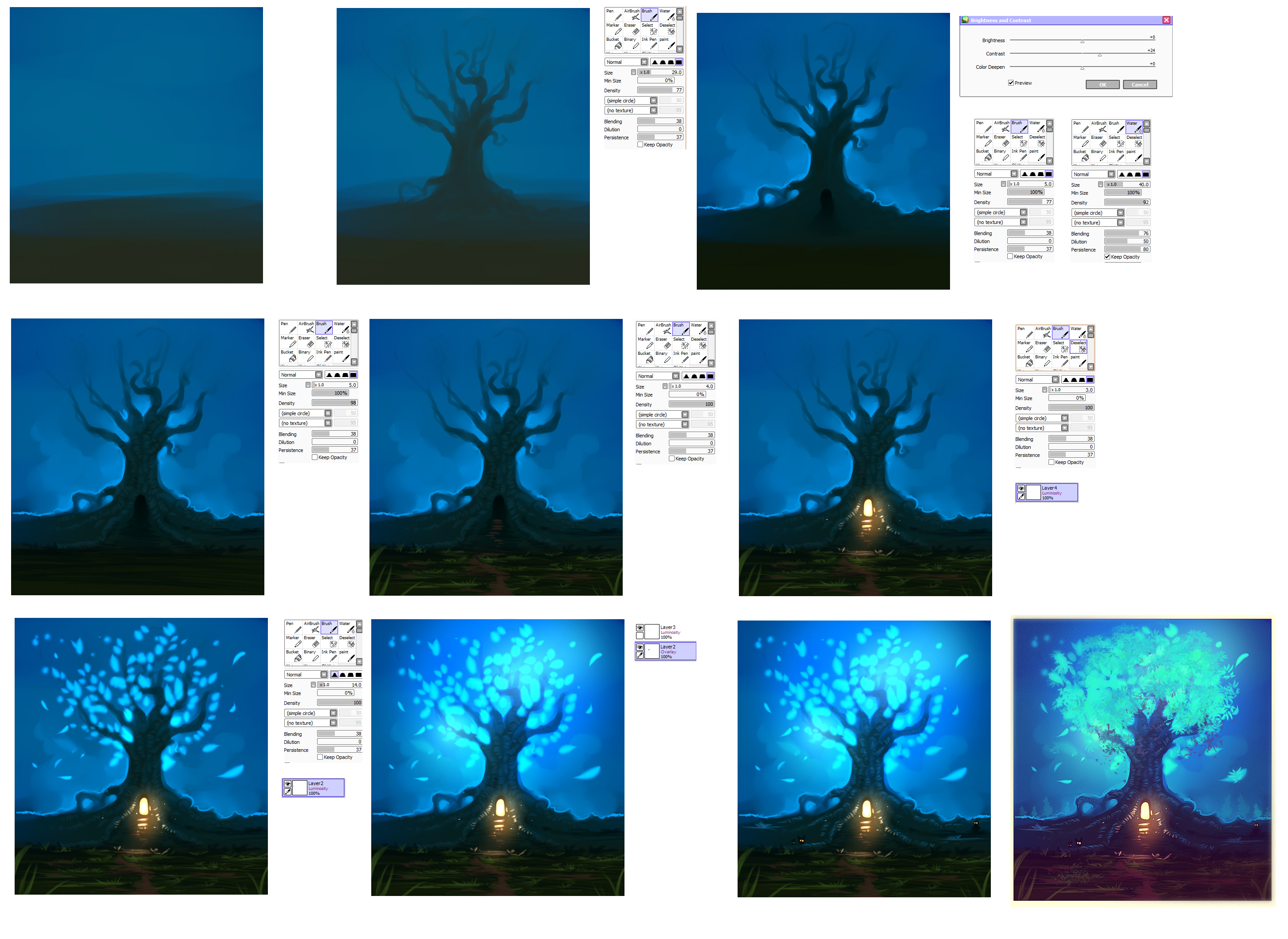 Magic tree step by step tutorial by ryky on deviantart for Space tutorial