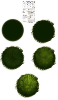 Grass brush settings -  tutorial