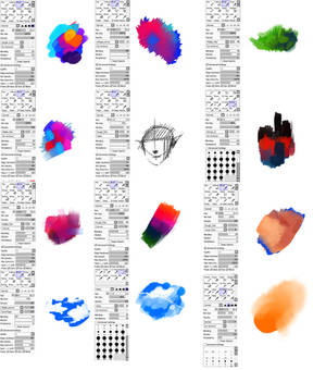 Brushes type for Paint tool SAI