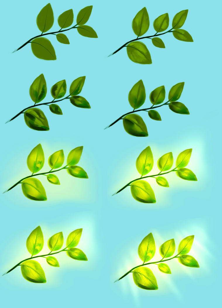 Leaves tutorial by ryky