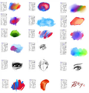 Brushes type for Paint tool SAI #2
