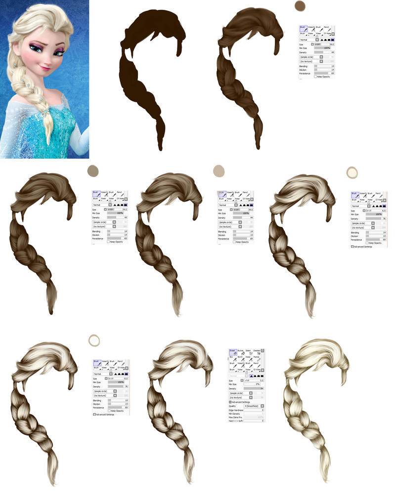 Elsa - Hair tutorial by ryky