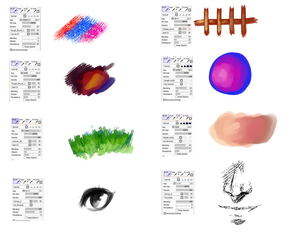 Brushes Type For Paint Tool Sai 3 By Ryky On Deviantart