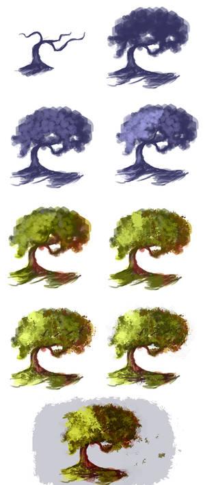 Tree - step by step