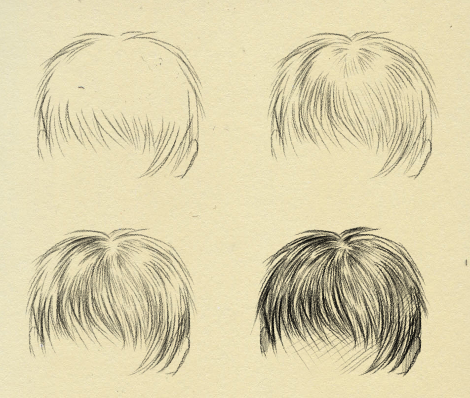 How to draw - Hair by ryky