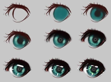Eyes step by step