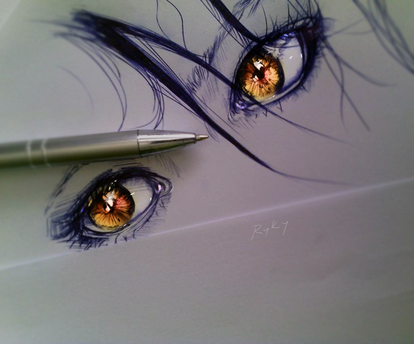 Golden Eyes by ryky