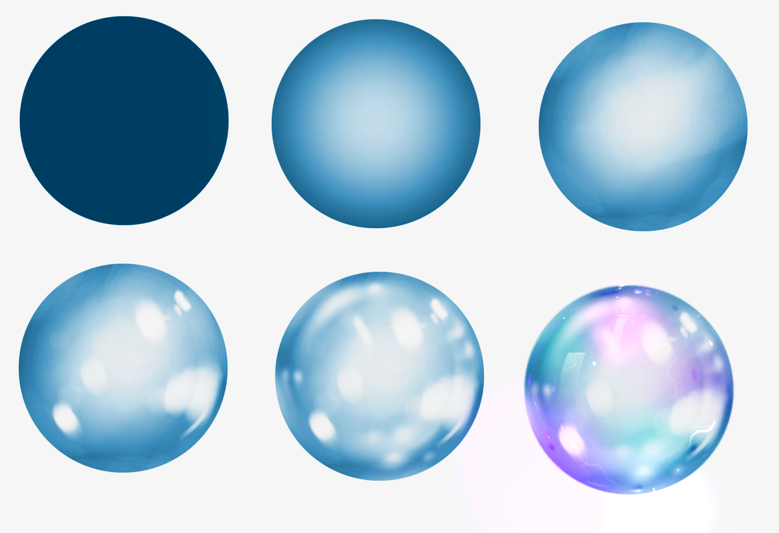 Bubble step by step 2