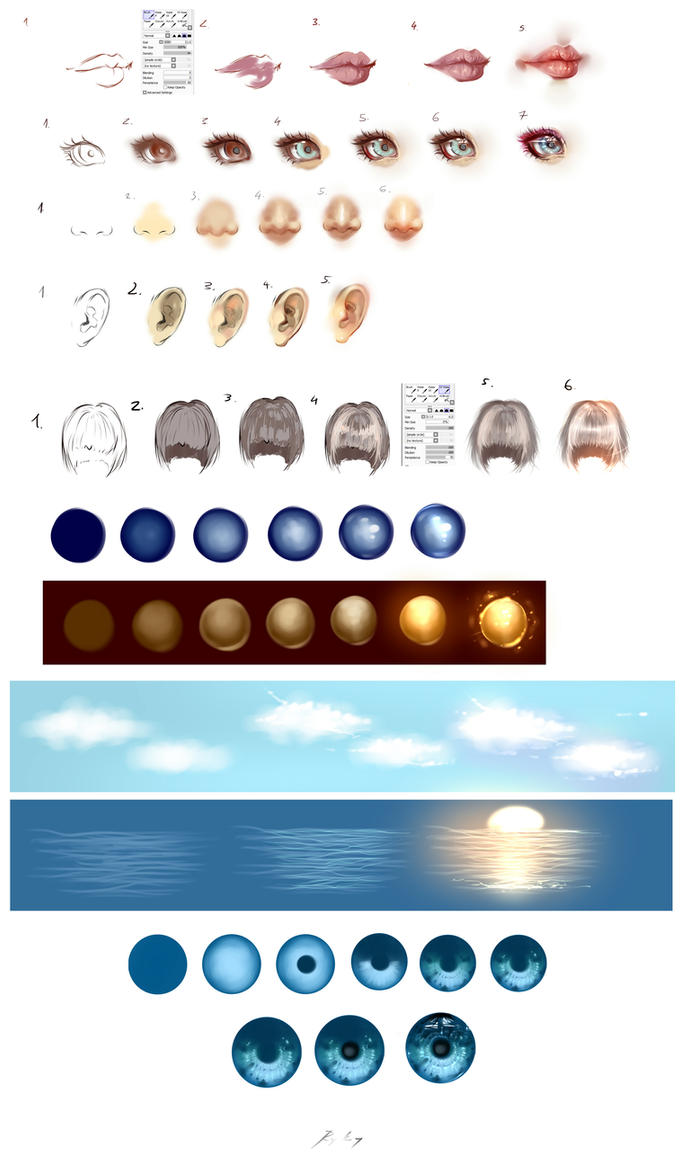 NEW Paint tool SAI tutorials by ryky