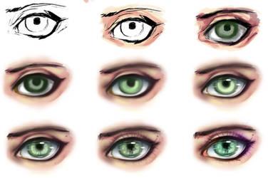 eye step by step