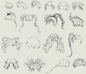 anime hair reference