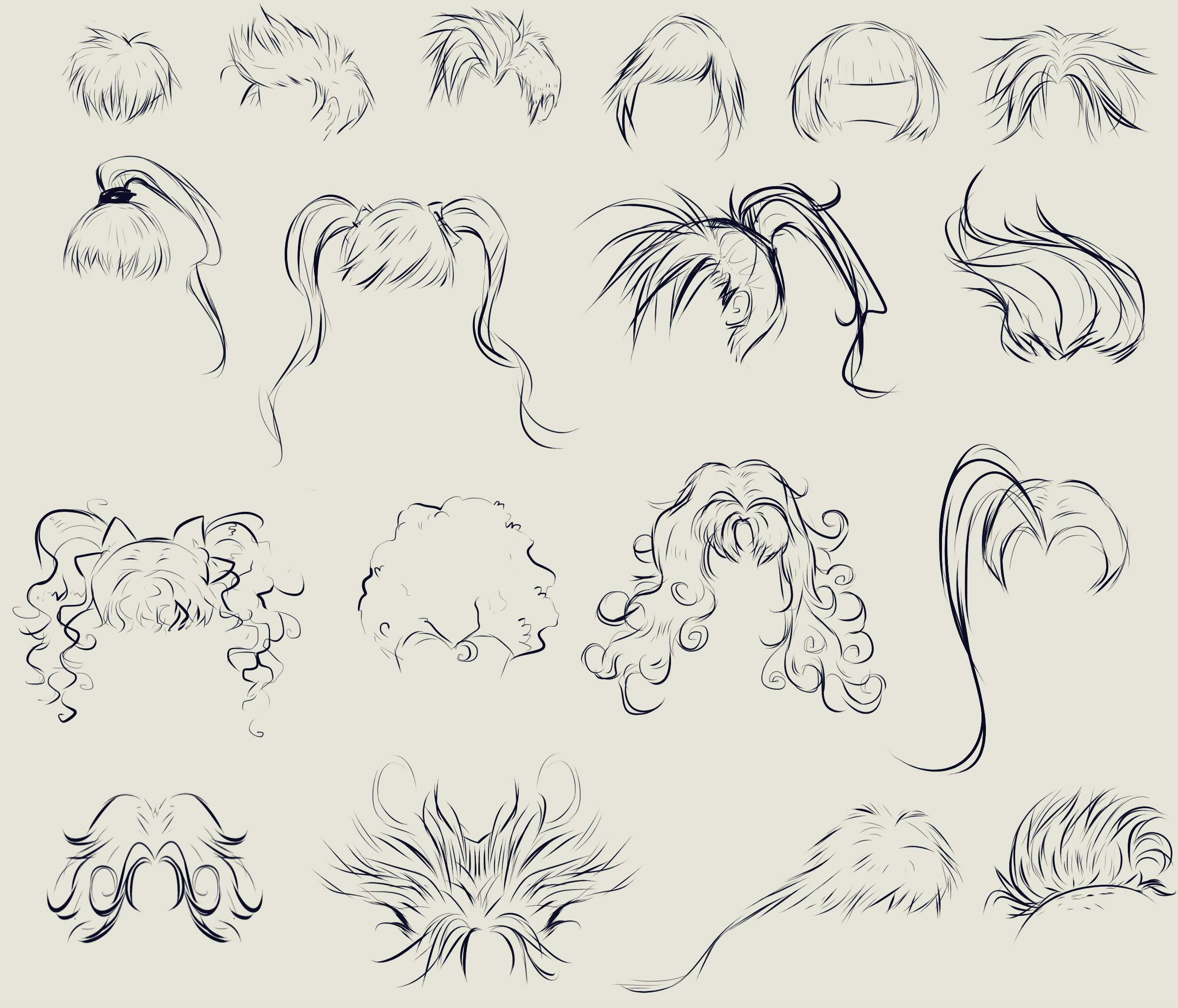 anime hair reference by ryky on DeviantArt