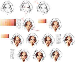 face coloring tutorial by ryky