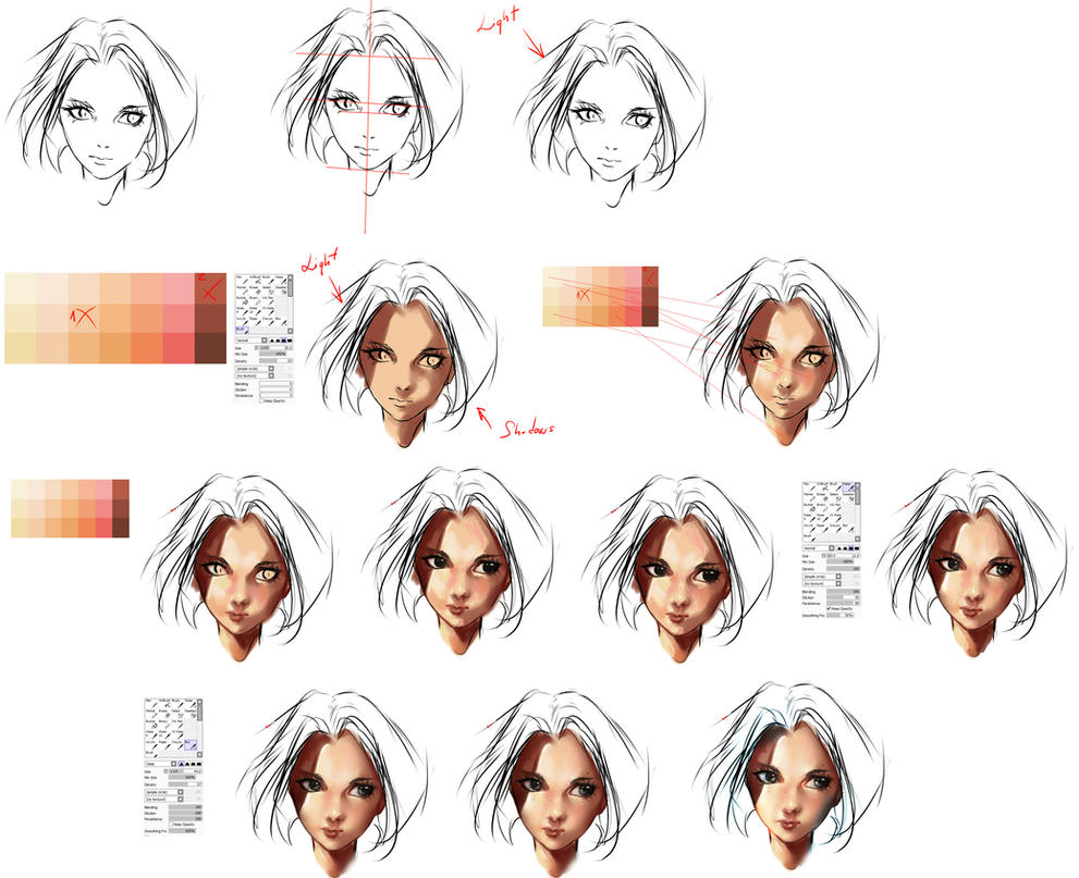 face coloring tutorial by ryky on DeviantArt