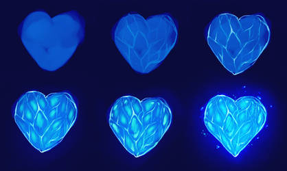 frozen heart step by step