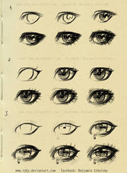eyes step by step reference