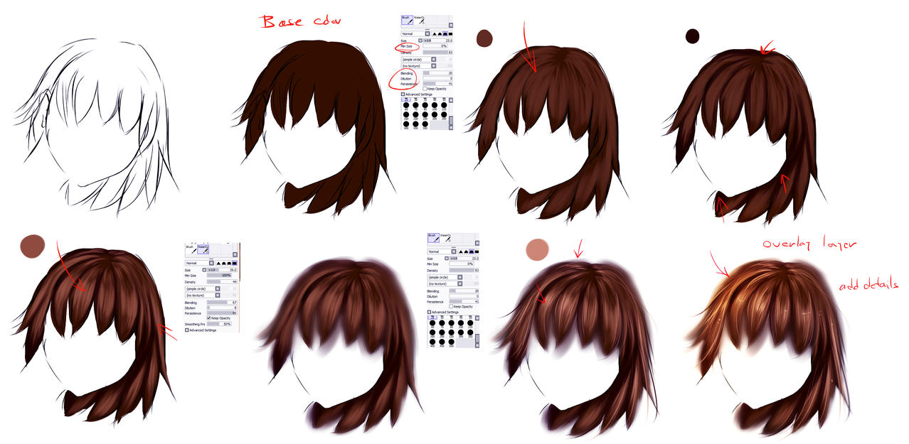 EASY anime hair tutorial by ryky on DeviantArt