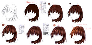 EASY anime hair tutorial