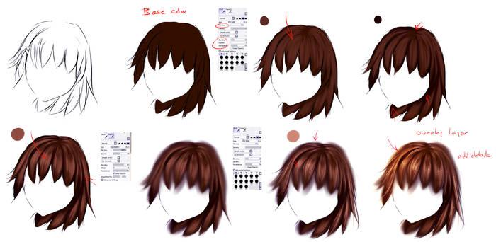 EASY anime hair tutorial